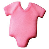 Baby Onepiece Pink Sugar Decorations