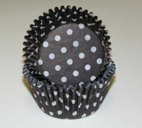 Black Polka Dot Baking Cup
