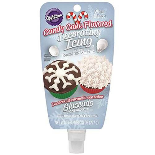 candy cane-flavored icing pouch