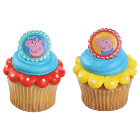 Peppa Pig and George Cupcake Rings
