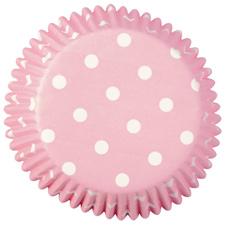 Pink polka dot baking cup