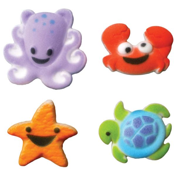 Sea Buddies Sugar Decorations