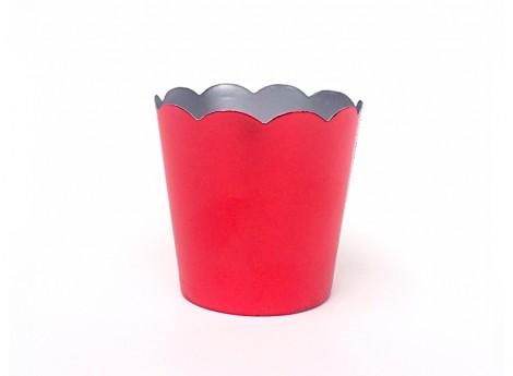 Petite Metallic Cup - Red