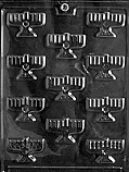 B.S. Menorahs Chocolate Mold