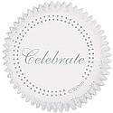 Silver Celebrate Baking Cups