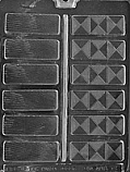"1-1/8"" Fancy Chocolate Bar Mold"
