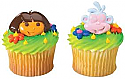 Dora and Boots Cupcake Rings