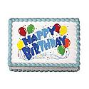 Happy Birthday Edible Image