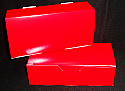 7 x 3 1/4 x 2  in. 1 lb. - Solid Red