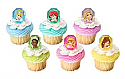 Disney Princess Gemstone Cupcake Rings