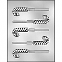 "2 1/2"" Candy Cane Sucker Chocolate Mold"