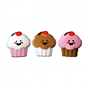 Happy Face Cupcakes Asst. Sugar Decorations