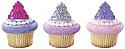 Princess Tiara Crown Cupcake Rings