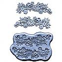 Silicone Flower Mold w/ Scrolls