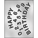 Happy Birthday Numbers Chocolate Mold