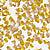 Gold Hearts Edible Glitter