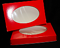 7 x 4 1/2 x 1 in. 1/2 lb. 2 pc. - Red Oval Window