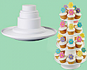 4 Tier Stacked Dessert Tower