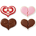 Double Heart Cookie Chocolate Mold