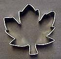"3 1/2"" Sugar Leaf Maple Cookie Cutter"