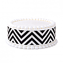 Black Chevron Print Edible Image