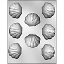 "1 1/4"" Clam Shell Chocolate Mold"