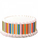 Happy Stripes Print Edible Image
